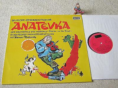 ANATEVKA Deutsche Originalaufnahme SHMUEL RODENSKY GER LP DECCA 6.21409 AS