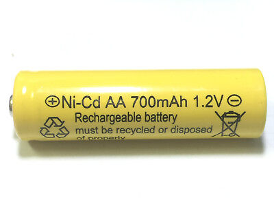8 AA Rechargeable Batteries NiCd 700mAh 1.2v Garden Solar Ni