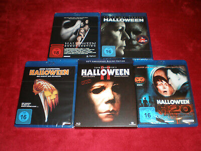 5 x Jamie Lee Curtis komplette Halloween Filme-Carpenter-H20- Blu-ray- FSK16-18