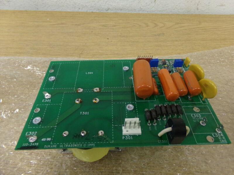 Dukane Ultrasonics 110-3498 Circuit Control Board *FREE SHIPPING*