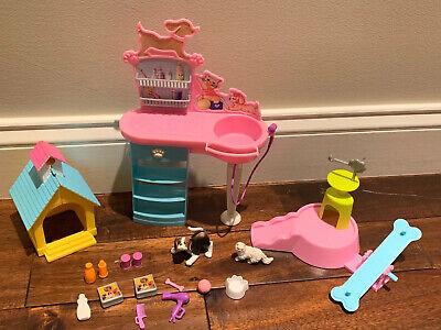 Lot 17 Barbie Stylin Pup Grooming Salon Dog Cat Pet Playset 2001 Doggie Daycare