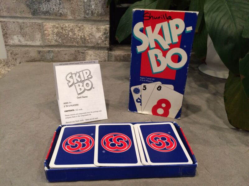 SKIP-BO Card Game Vintage 1995 Mattel 100% Complete By Makers Of UNO Skipbo