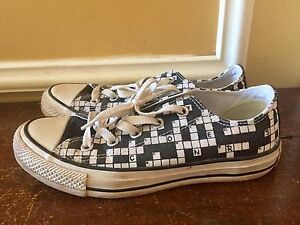 Crossword Patterned Converse Shoes