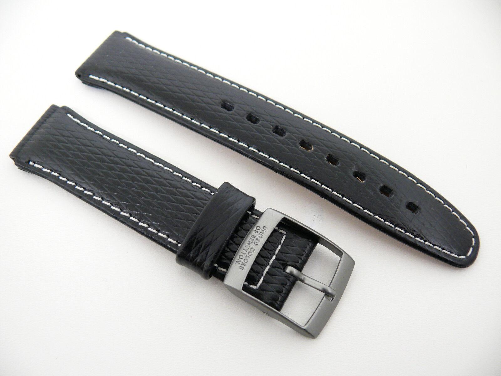 UNITED COLORS OF BENETTON Chronograph Uhrenarmband Ersatzband  17 Schwarz titan