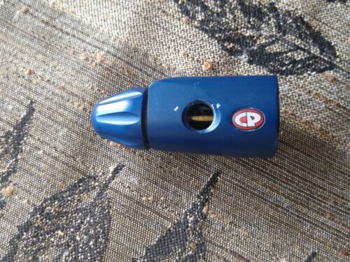 CP Dovetail Flat Blue Custom Products Paintball ASA Tank On/Off Mount Assembly