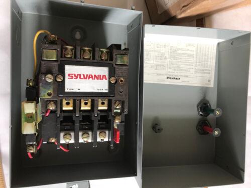 SYLVANIA T13U03A,T13AC3A46 MAGNETIC MOTOR STARTER SIZE 00 TYPE TM 230V 2HP 9A,ER