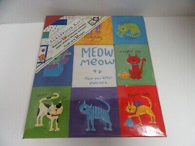 Paper Boutique Scrapbook Album Kit Meow Kitty Cat 10x11.5 Stickers Die Cuts More Cat Scrapbook Kit