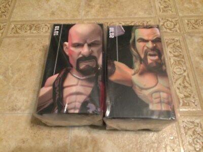 WWE Slam Crate Loot Crate Exclusive Steve AUSTIN & TRIPLE H FIGURE LOT OF 2