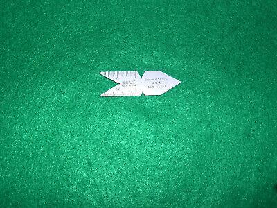 Brown Sharpe 599-650 29 Degree Thread Center Gage