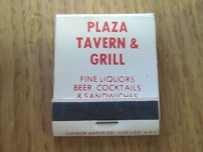 OLD VTG UNSTRUCK UNUSED NOS NEW MATCHBOOK MATCHES PLAZA TAVERN GRILL MADISON WI