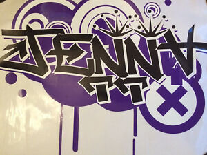 "Custom Graffiti Art ""Jenna"""