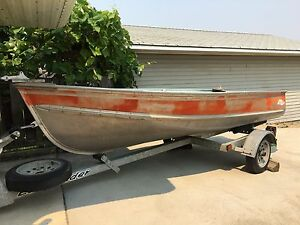 Aluminum Boat, motor and trailer