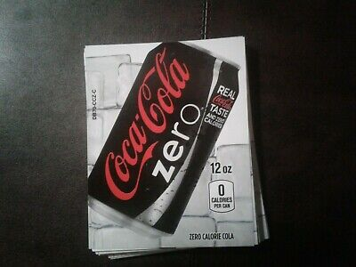 42royal Vendors Soda Vending Machine Pack Coke Zero Labels Selection Tab