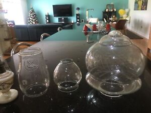 Lamp chimney glass kerosene parts
