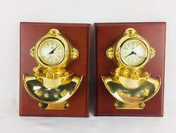 Matching Bey Berk International Wall Clock Diver's Helmet Nautical Quartz