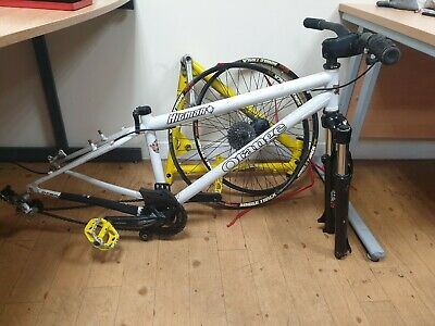 Orange Hitman Dirt Jump Frame, Marzocchi Forks And Wheels 85% complete bike.