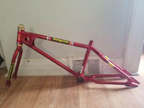 OLD SCHOOL BMX 1979 TEAM MONGOOSE FRAME & FORK CANDY RED SUPERGOOSE VINTAGE RARE