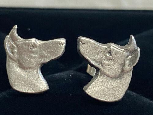 Set of Pewter Doberman Pinscher Earrings