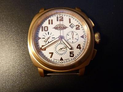 NEW Watch Russia 31682 Chronograph Poljot Mechanical VODOLAZ Aviator BRASS
