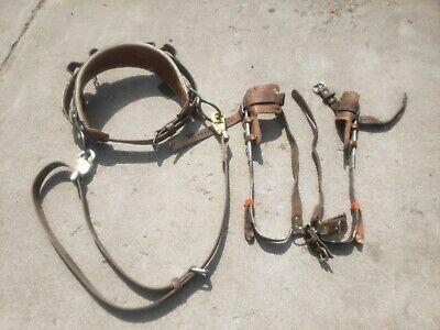 Vintage Klein Belt 5226n-23 Retrofit Y Klein-buhrke Poletree Climbing Gaffs