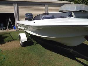 Swiftcraft Fiberglass Runabout boat with 115 Yamaha outboard Avoca Bundaberg City Preview