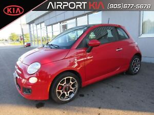 2013 Fiat 500 Sport / Leather / Sunroof