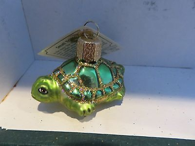 Small turtle   Old World Christmas  glass ornament