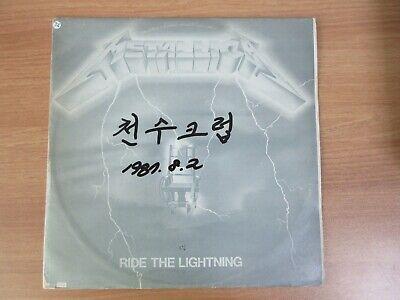 METALLICA - Ride The Lightning KOREA LP Gray Cover White Label