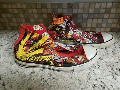 Converse Hi-Top Shoes The Flash DC Comics Limited Rare Superhero Men's Size - Superhero Converse