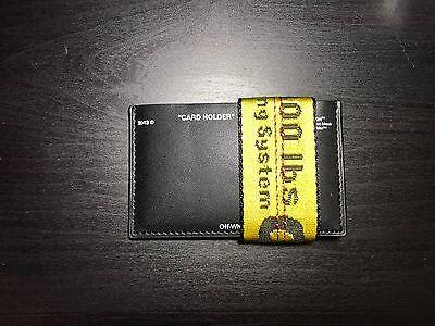 Off White Black Card Holder Wallet Virgil Abloh Supreme Vlone Yeezy
