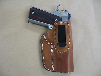 """Remington 1911 R1 5"""" IWB Leather In The Waistband Concealed Carry Holster TAN RH"""