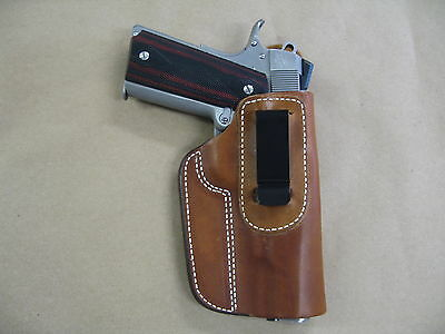 """Ruger SR 1911 5"""" IWB Leather In The Waistband Concealed Carry Holster TAN RH"""