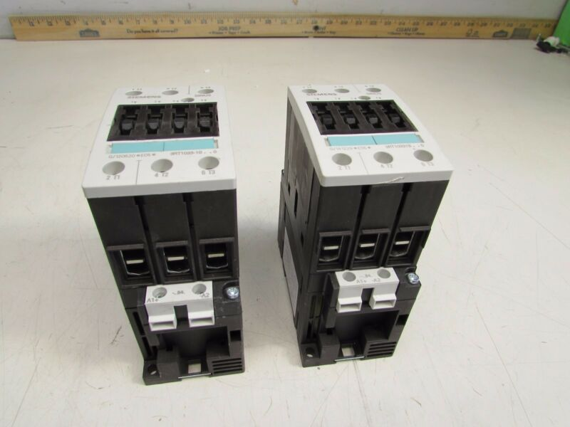 LOT OF 2QTY SIEMENS SIRIUS 3RT1033-1BB40 CONTACTORS 24VDC COIL NICE USED M/O!!