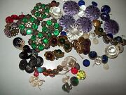 Antique Rhinestone Button Lot