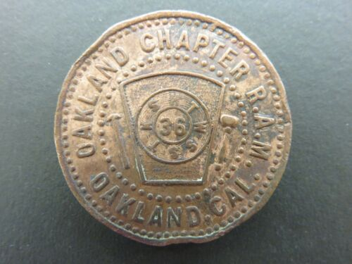 One Penny Masonic Token Oakland, CA Chapter No. 36, R.A.M.
