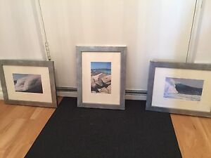 Set of three framed ocean pictures Canning Vale Canning Area Preview