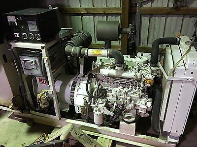Isuzu 46kw Mer Marine Diesel Generator 180 Hours