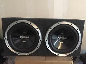"Sony Xplod 12"" Subwoofers with Amplifier and Wiring Kit"