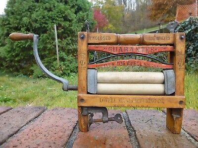 Antique Salesman Sample Lovell's Cog Wheel Shields Clothes Wringer 1896 Anchor