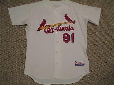 737c6d28d De La Cruz size 46  81 St. Louis Cardinals Game Used jersey issued home  white