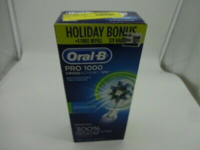 Oral-B Black Pro 1000 Power Rechargeable Electric Toothbrush 2 BrushHeads Sealed