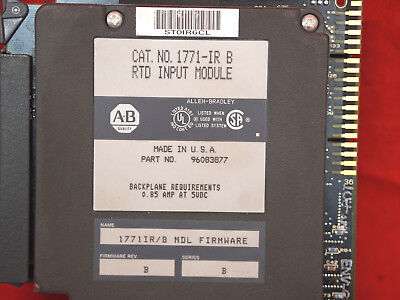 Allen-bradley 1771-irb Rtd Input Module Resistance Temperature Detector 14c3