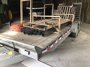 20' galvanized flatbed trailer