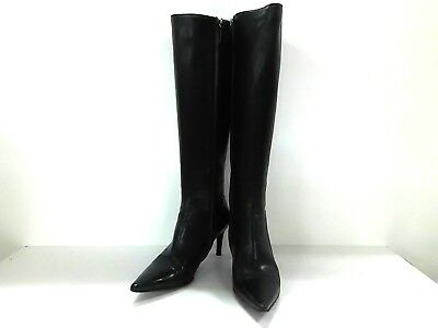 Auth GUCCI Black Leather Boots Women