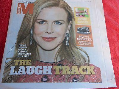La Times Marketplace Newspaper Section February 2015 Nicole Kidman Laugh Track
