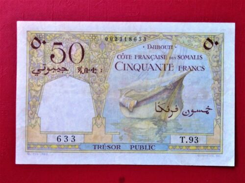 1952 Djibouti / French Somaliland 50 Francs P-25 @ (RARE)