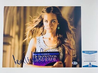 SEXY! ISABEL LUCAS SIGNED TRANSFORMERS 11x14 PHOTO AUTHENTIC BAS COA #G59685