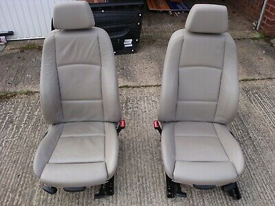 BMW 1 Series E82 Coupe Sport Beige Boston Leather Seats Front and Rear.