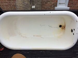 Anyone interested in a cast iron bath tub