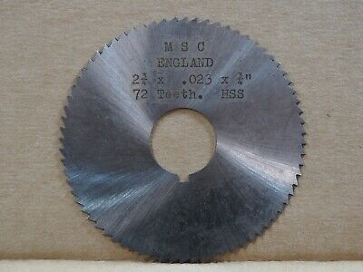 SLOTTING SAW CLEVELAND TWIST DRILL  2 3//4 X.032 X 1 inch USA MADE! 72 TOOTH